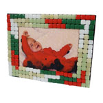 Mosaic Christmas Picture Frame